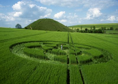 Silbury Hill, Wiltshire   1st June 1996   Barley P 35mm Neg Scan
