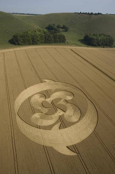 Golden Ball Hill Alton Barnes, Wiltshire | 26th July 2004 | Wheat L