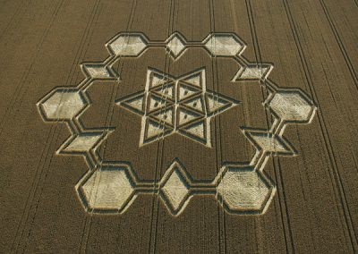 Avebury Henge, Wiltshire | 24th July 2005 | Wheat | Classical hexagram in centre