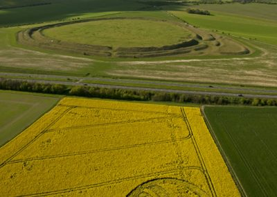 Yarnbury Castle near Winterbourne Stoke, Wiltshire | 28th April 2012 | Oilseed Rape L5
