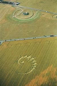 crop circle seen from balloon ride