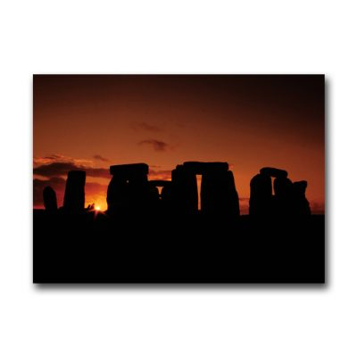 Stonehenge Sunset 12x9 inches