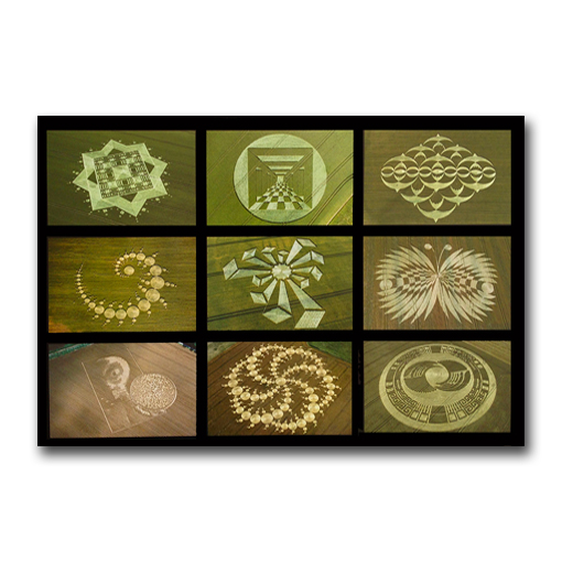 Crop Circle Collage Prints