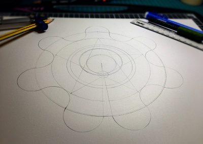 Green Street (1) 2014 | Pencil Line with hidden pentagram