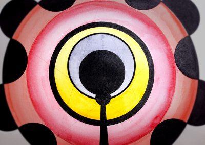 Green Street (1) 2014 | Close-up showing hidden pentagram in pencil
