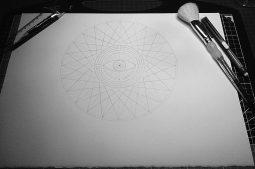 Nettle Hill 2014 | Pencil line - central eye added
