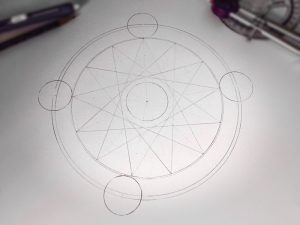Pencil outline of the basic geometry