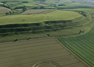 Maiden Castle, Dorset | 26th July 2015 | Wheat LL