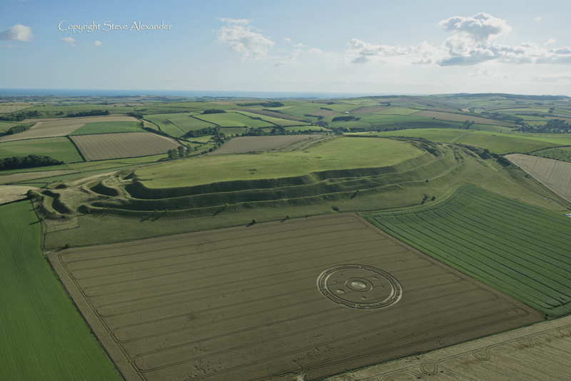 Maiden Castle Dorset 26th July 2015 Temporary Temples