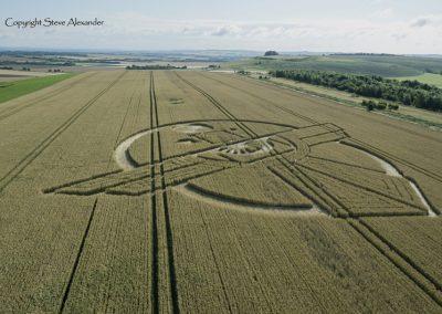 Uffcott Down, nr Barbury Castle, Wiltshire | 25th July 2015 | Wheat L2