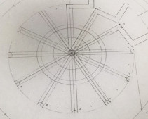 Bowerchalke 2015: the circle is divided into 24 slices to make the design.