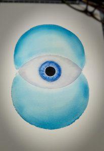 Vesica as Eye by Karen Alexander 2015