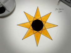 Haselor 2015: Outline of star with circle around which it is constructed