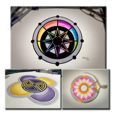 Crop Circle Paintings by Karen Alexander - Originals