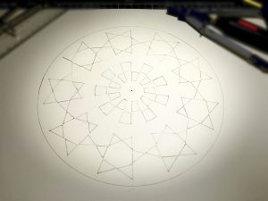 This is how the geometry would look if all the stars had been equal