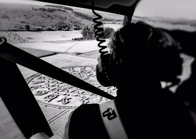 Copyright K. Alexander | View from the back seat: Ansty 2016 - Flying over the circle