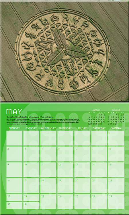 Crop Circle Calendar 2017 - Temporary Temples