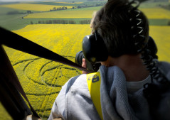 View from the back seat - Over Waden Hill 2017 - Image by K. Alexander