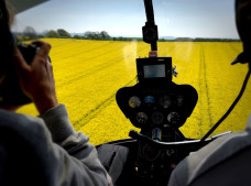 View form the back seat - Flying over a sea of yellow-1  - Image by K. Alexander