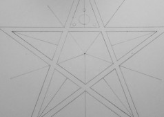 Broad Hinton (2) 2017 | Pencil Line of pentagram star and guidelines for smaller circles