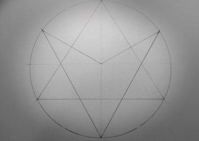 Badbury Rings 2017 - A marriage of a classical hexagram and a unicursal hexagram