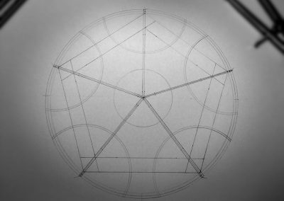 Maiden Bradley, Wilts | 9th June 2017 | Barley | Underpinning geometric framework