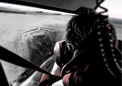 View from the back seat - Uffington White Horse 2017-A - Image K. Alexander