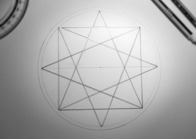 Rollright Stones 2017  This design uses 8-fold geometry to create 4 pentagrams