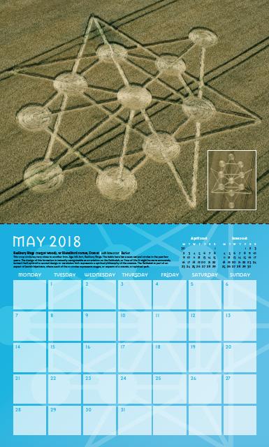 May Calendar Page : Crop circle calendar collectors temporary temples