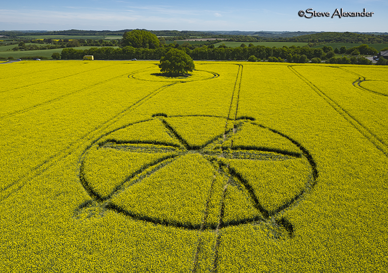 First crop circle of 2018 temporary temples first crop circle of 2018 publicscrutiny Choice Image
