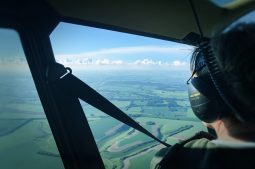 View from the back seat | Flying over the Dorset Landscape 2018 | Picture: Karen Alexander