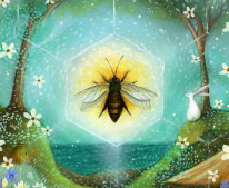 Summer Solstice by Amanda Clark - as featured in my art journal on the 21st of June
