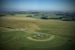 View form the Back Seat | Quick snap of Stonehenge as we fly by | Image K. Alexander