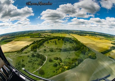 Danebury Hillfort, Hants | View from the back seat 1
