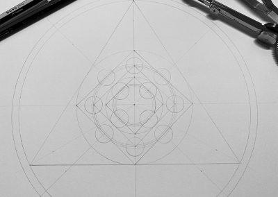Eastern Royal, Wilts. 2020   Pencil Line Close-up   by Karen Alexander