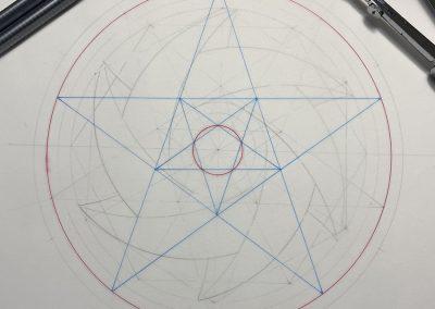 Etchilhampton 2020 | Pentagonal proportioning (after Peter van den Burg) | by Karen Alexander