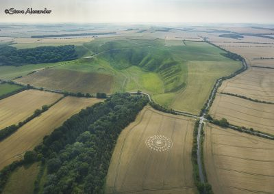 Uffington Castle, Oxon | 9th August 2020 | Wheat | HL2