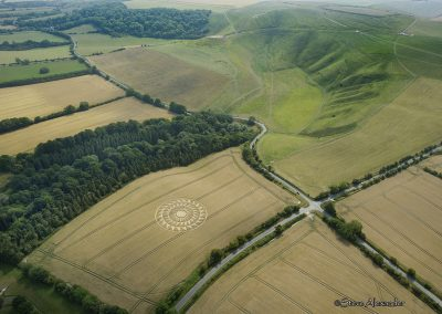 Uffington Castle, Oxon | 9th August 2020 | Wheat | HL3