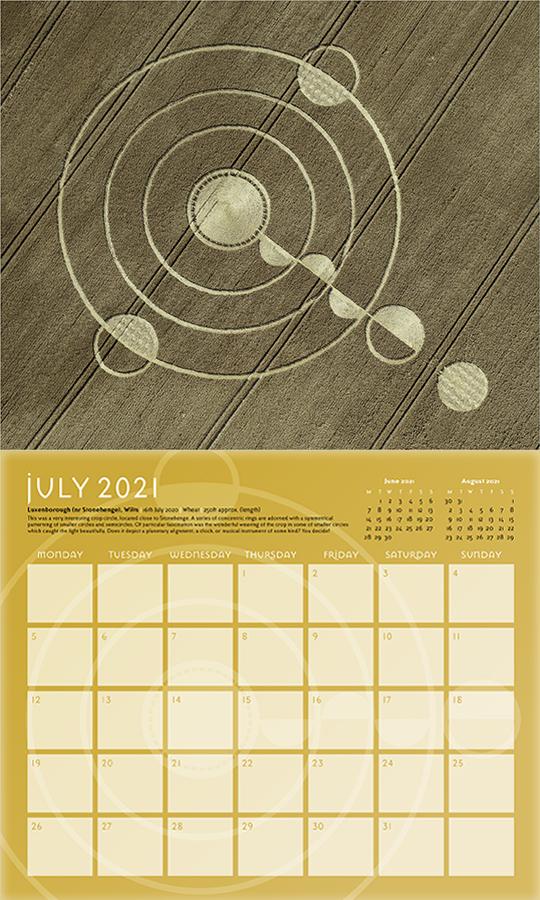 Crop Circle Calendar 2021 (5 Set) - Temporary Temples
