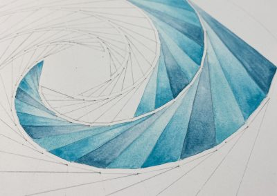 Watercolour added to the drawing   by Karen Alexander